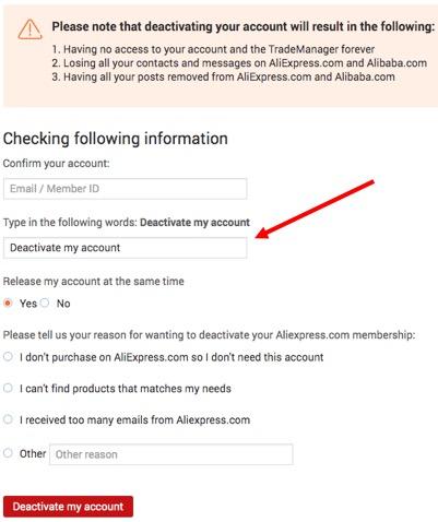 ¿Cómo puedo cerrar mi cuenta de AliExpress? 8